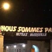 Attentats de Paris : la banderole de soutien des Ultras de l'OM vandalisée