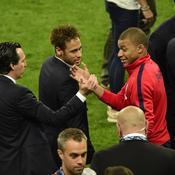 Unai Emery, Neymar et Kylian Mbappé