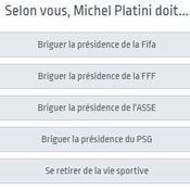 Sondage : à votre avis, quel avenir pour Michel Platini ?