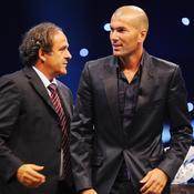 Michel Platini et Zinedine Zidane