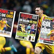 Ballon d'Or : la presse espagnole déroule (déjà) le tapis rouge à Messi