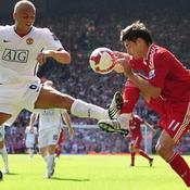 Liverpool Albert Riera Manchester United Wes Brown