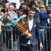 Coupe de la Ligue: les «héros» du Racing acclamés à leur arrivée à Strasbourg
