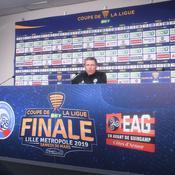 Thierry Lauret lors de la conférence de presse d'avant-match