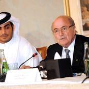 Sepp Blatter et Sheikh Mohammed Bin Hamad Al Thani
