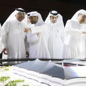 Replique du trophee de la Coupe du monde à Doha