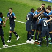 L'équipe de France lors de la finale contre la Croatie