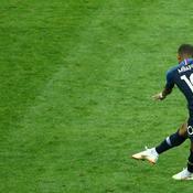 La frappe de Kylian Mbappé