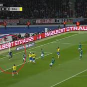 La faute de mains de Trapp contre le Brésil en vidéo