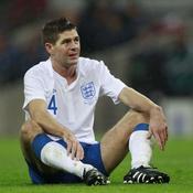 Angleterre-France Gerrard à terre