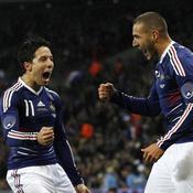 Angleterre-France Joie Benzema et Nasri