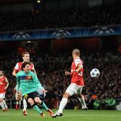 Arsenal-Barcelone Tir Messi