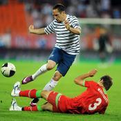 Biélorussie-France, Ribéry dribble