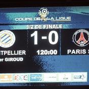 Montpellier-PSG, score