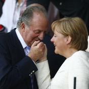 Juan Carlos et Angela Merkel