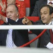 Michel Platini et le Roi Juan Carlos
