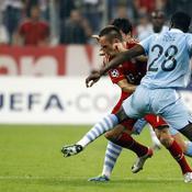 Franck Ribéry face à Kolo Touré