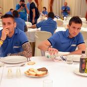 Yohan Cabaye et Mathieu Debuchy