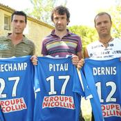 Cyril Jeunechamp, Romain Pitau et Geoffrey Dernis