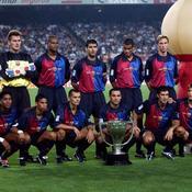 Frédéric Déhu debout tout à droite avec notamment Guardiola, Bogarde et Rivaldo.