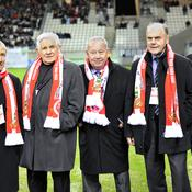 Raymond KOPA, Dominique COLONNA, Just FONTAINE, Lucien Muller, Carlos BIANCHI (de gauche à droite)