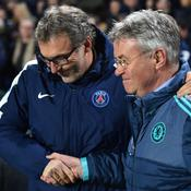 Laurent Blanc et Guus Hiddink