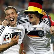 Demi-finale - Lukas Podolski et Bastian Schweinsteinger