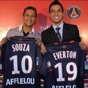1. Éverton Santos (2008, Corinthians au PSG, 2M€) et Souza (2008, de Sao Paulo au PSG, 4M€)