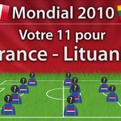 France-Lituanie, Composez votre 11 !