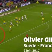 Giroud a inscrit le plus beau but de l'équipe de France en 2017