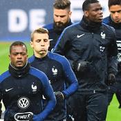 Patrice Evra et les Bleus à l'entraînement