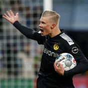 Triplé de Haaland pour sa première avec Dortmund