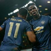 Manchester United enchaîne et sort Arsenal, Martial buteur