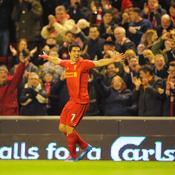 Luis Suarez a inscrit ses 10e, 11e, 12e et 13e but en championnat, mercredi soir face à Norwich (5-1)