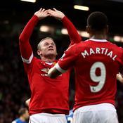 Wayne Rooney a inscrit le premier but de la rencontre sur une passe d'Anthony Martial