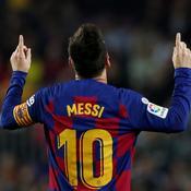 Lionel Messi avec le maillot du Barça