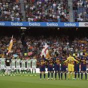 L'émouvant hommage du Camp Nou aux victimes des attentats en Catalogne