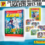 Neymar en couverture de l'album Panini de la saison de... Liga !