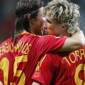 Fernando Torres Sergio Ramos Espagne Euro 2008