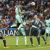 D'une magnifique tête, Ronaldo rejoint Platini dans l'histoire de l'Euro