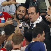 François Hollande pousse Noël Le Graët sur le but de Griezmann