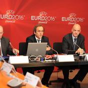 Jacques Lambert, Michel Platini et Gianni Infantino