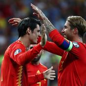 Alvaro Morata et Sergio Ramos