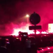 Fumigènes, Matuidi au micro: les Parisiens accueillis en héros au Bourget