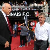 Christian Gourcuff aux côtés du président rennais René Ruello