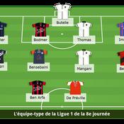 L'équipe type de la 8e journée de Ligue 1