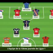 Ligue 1 : L'équipe-type de la 13e journée