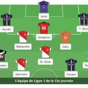 Ligue 1 : l'équipe type de la 14e journée