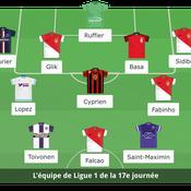 Ligue 1 : l'équipe type de la 17e journée