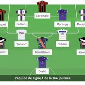Ligue 1 : L'équipe type de la 26e journée